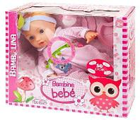 """Пупс-кукла """"Bambina Bebe"""" Dimian, 42 см, с аксессуарами для кормления, звуковые эффекты"""
