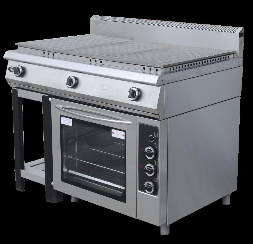Плита со спл-ой пов-тью с духовкой Ф6ЖТЛСПДГ- полностью газовая духовка Grill Master