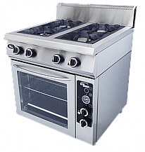 Плита газовая 4-х горелочная с полностью газовой духовкой Ф4ПДГ/800 Grill Master