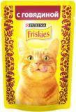 Friskies С говядиной в подливе влажный корм для кошек, 85гр