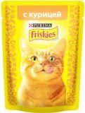Friskies С курицей в подливе влажный корм для кошек, 85гр