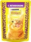 Friskies Фрискис влажный корм для кошек С ягненком в подливе, 85гр