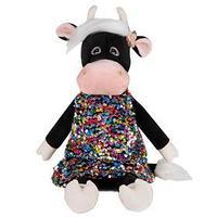 Мягкая игрушка 'Коровка Даша в цветном платье', 28 см