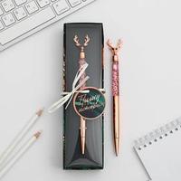 Фигурная ручка в подарочной коробке 'Пишу свою историю', металл