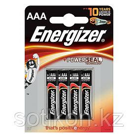 Элемент питания LR03 AAA Energizer POWER Alkaline 4 штуки в блистере