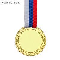 Медаль под нанесение, золото, d=5 см