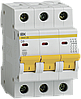 Автоматический выключатель ВА47-29 3Р  8А 4,5кА х-ка D ИЭК