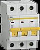 Автоматический выключатель ВА47-29 3Р 10А 4,5кА х-ка D ИЭК