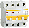 Автоматический выключатель ВА47-29 4Р  8А 4,5кА х-ка D ИЭК