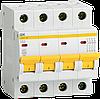 Автоматический выключатель ВА47-29 4Р 16А 4,5кА х-ка D ИЭК