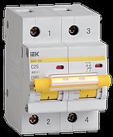 Автоматический выключатель ВА 47-100 2Р 25А 10 кА  х-ка С ИЭК