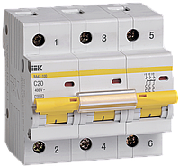 Автоматический выключатель ВА 47-100 3Р 32А 10 кА  х-ка С ИЭК