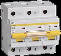 Автоматический выключатель ВА 47-100 3Р 40А 10 кА  х-ка С ИЭК