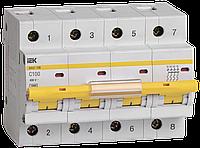 Автоматический выключатель ВА 47-100 4Р 100А 10 кА  х-ка С ИЭК