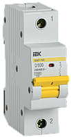 Автоматический выключатель ВА47-150 1Р 100А 15кА х-ка D IEK