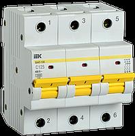 Автоматический выключатель ВА47-150 3Р 125А 15кА х-ка C IEK