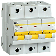 Автоматический выключатель ВА47-150 3Р 63А 15кА х-ка D IEK