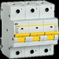 Автоматический выключатель ВА47-150 3Р 80А 15кА х-ка D IEK