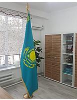 Флаг РК кабинетный 2*1м (Вышивка)
