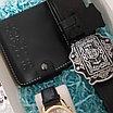 Набор ремень и портмоне из натуральной кожи, фото 9