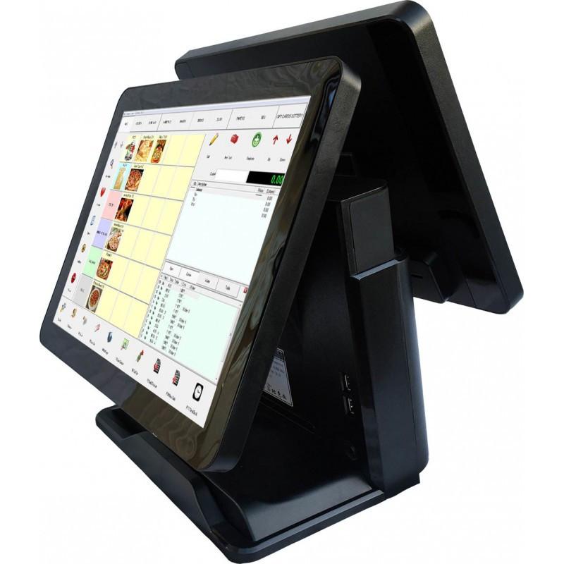 POS терминал сенсорный моноблок с двумя экранами