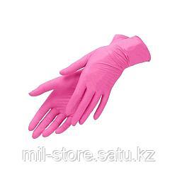 Перчатки XS 100шт нитрил розовые