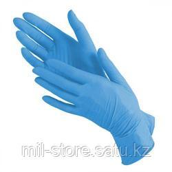 Перчатки L 100шт нитровинил голубые
