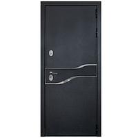 Дверь металлическая Амакс Термо Черный шелк 860 левая