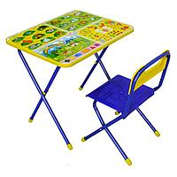 """Nika Комплект детской складной мебели """"Познайка"""" - Хочу все знать! Возраст: от 1,5 до 3 лет."""