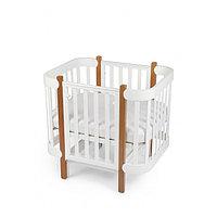 Happy Baby Кроватка-трансформер Happy Baby MOMMY LUX сделано из массива твёрдой породы дерева, имеет