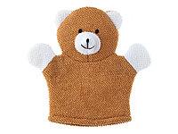 Happy Baby Махровая мочалка-рукавичка Baby Bear -