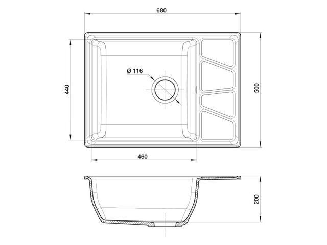 Кухонная мойка GranFest GF-V-680L