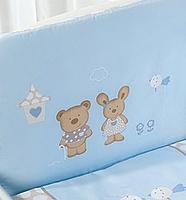 Постельное белье Perina Венеция Лапушки (голубой 7 предметов), фото 3