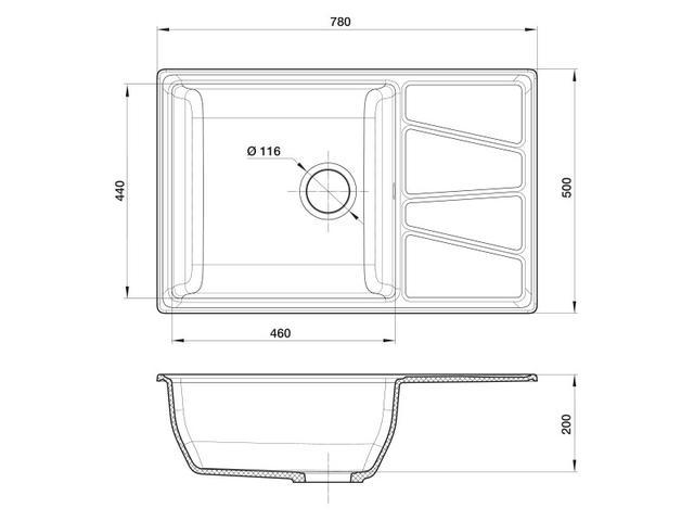 Кухонная мойка GranFest GF-V-780L