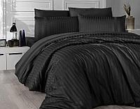 Постельное белье Prima Casa Damask/Страйп (Черное)