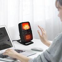 Портативный обогреватель-камин Flame Heater 1000W