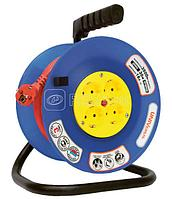 Удлинитель-шнур на рамке 1х50м 2P+PE IP44 УР50 3х1.0 IEK WKF14-10-01-50-44