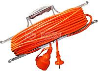 Удлинитель-шнур на рамке 1х40м 2P+PE IP44 УР40 3х1.0 IEK WKF14-10-01-40-44