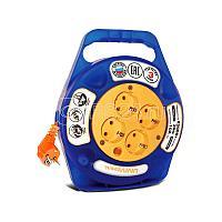 Удлинитель-шнур 1х5м вилка+розетка 2P+PE IP44 УШ-01РВ 3х1 оранж. IEK WUP10-05-K09-44