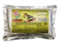 Консервы для кошек и собак Гау Мяу, пауч 500 г (мясные, мясо-овощные, мясо-гречневые, мясо-рисовые)