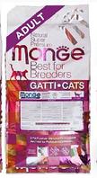 Полнарационный корм для взрослых кошек Monge Adult