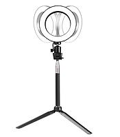 Кольцевая лампа 26 см+пульт блютуз в подарок