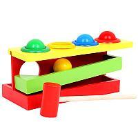Игра детская настольная Double knock ball toy YX-0068 деревянная