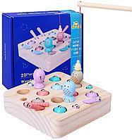 Игра настольная детская Catch Worms fishing game Duoqu GB 6675 деревянная