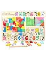 Игра настольная детская WoodIntelligence деревянная 7в1