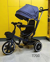 Трёхколёсный велосипед с поворотным сиденьем.