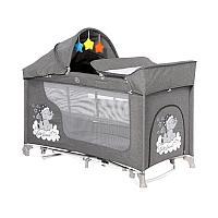 Кровать-манеж Lorelli MOONLIGHT 2 plus rocker с функцией качания grey luxe 2068