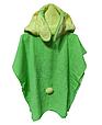 Пончо полотенце  зайка зеленый, фото 3