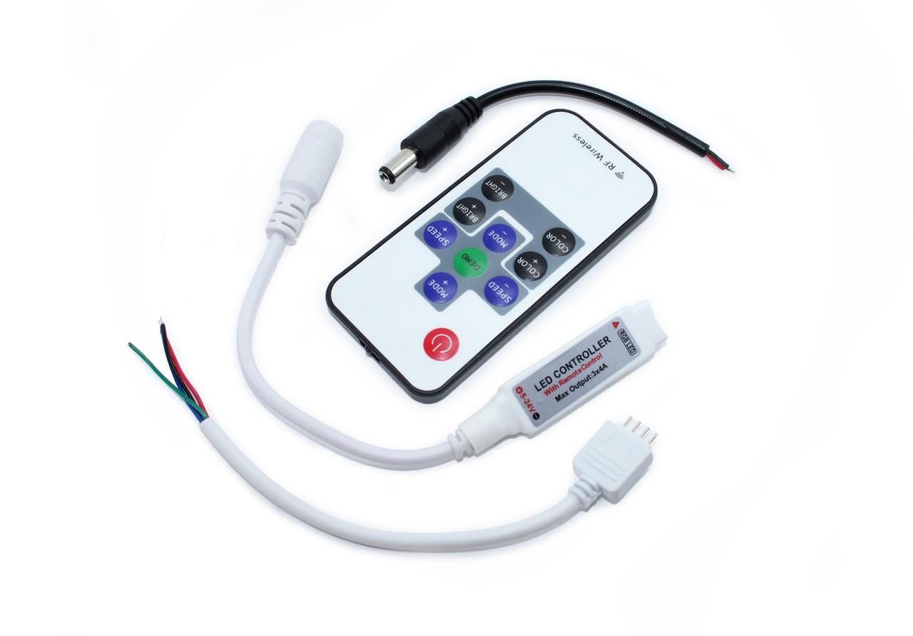 Контроллер RGB MINI контроллер c пультом 72W12V-M3Q-RF10