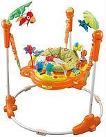Развивающий центр прыгунки с игрушками Джунгли оранжевый